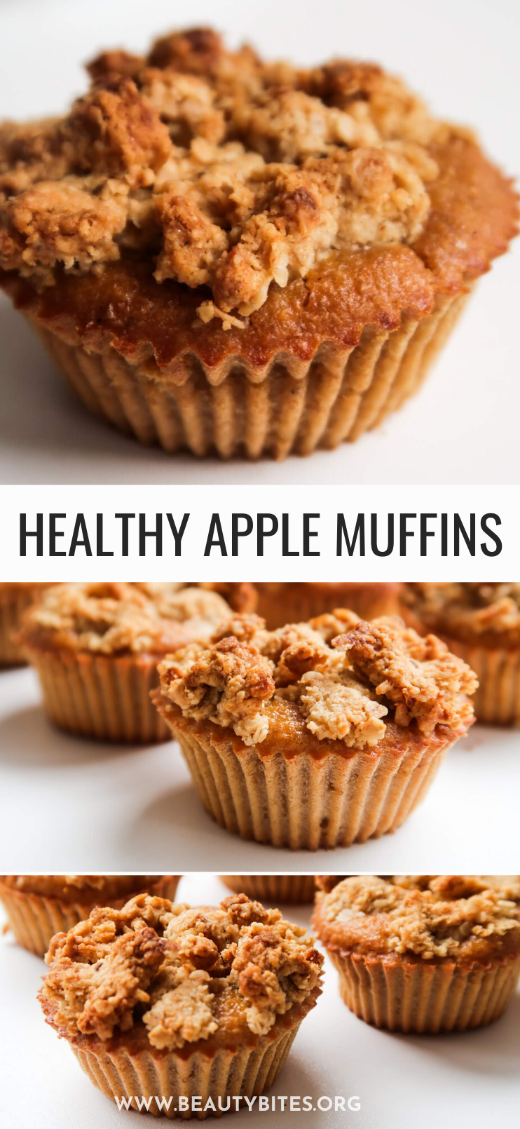 These healthy apple streusel oatmeal muffins are super easy to make and a very delicious healthy breakfast idea! These healthy breakfast muffins are a great meal prep breakfast recipe or healthy snack when you crave something sweet!