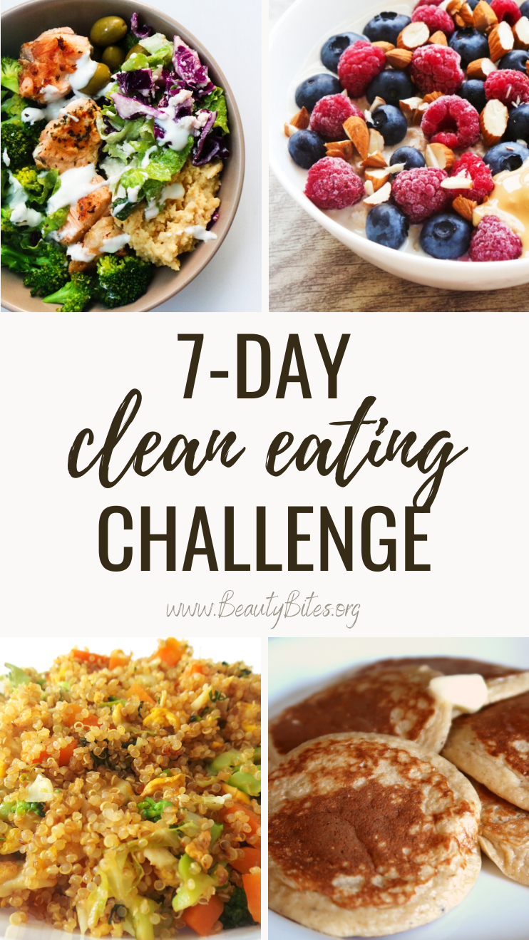 7-Day healthy eating plan to lose weight (or keep a healthy weight!), to have more energy and feel better! No more excuses, with this clean eating challenge it's easy to eat healthy on a budget. This meal plan features easy healthy recipes for dinner, lunch, breakfast and snacks that are easy to meal prep for the week. These are great healthy eating beginner recipes - most take 30 minutes or less and are made with easy to find ingredients, for most you also need only one pan (or bowl)