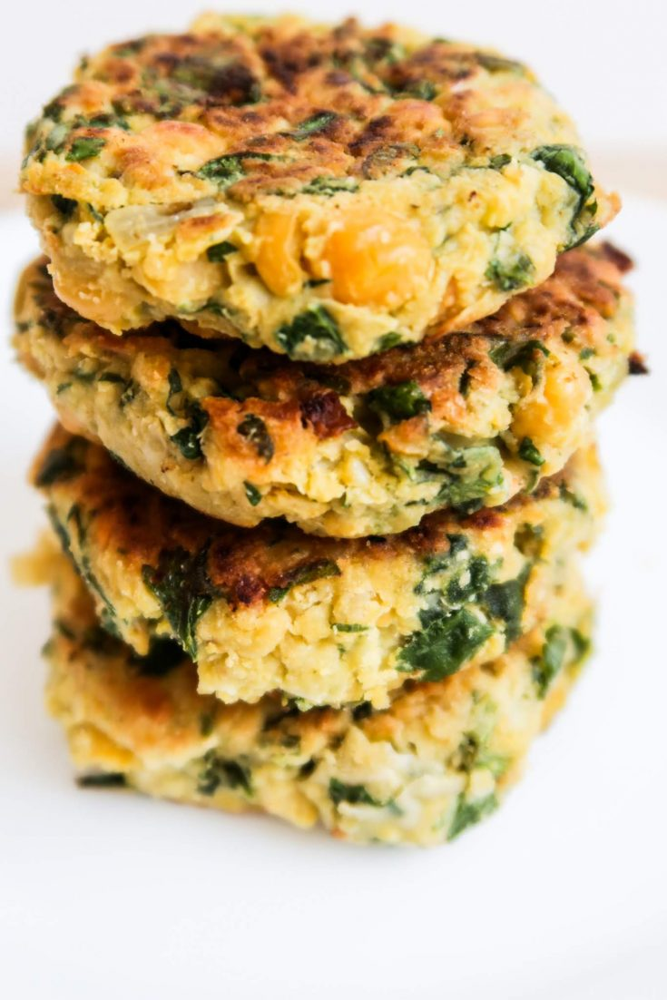 Easy Spinach Chickpea Cakes