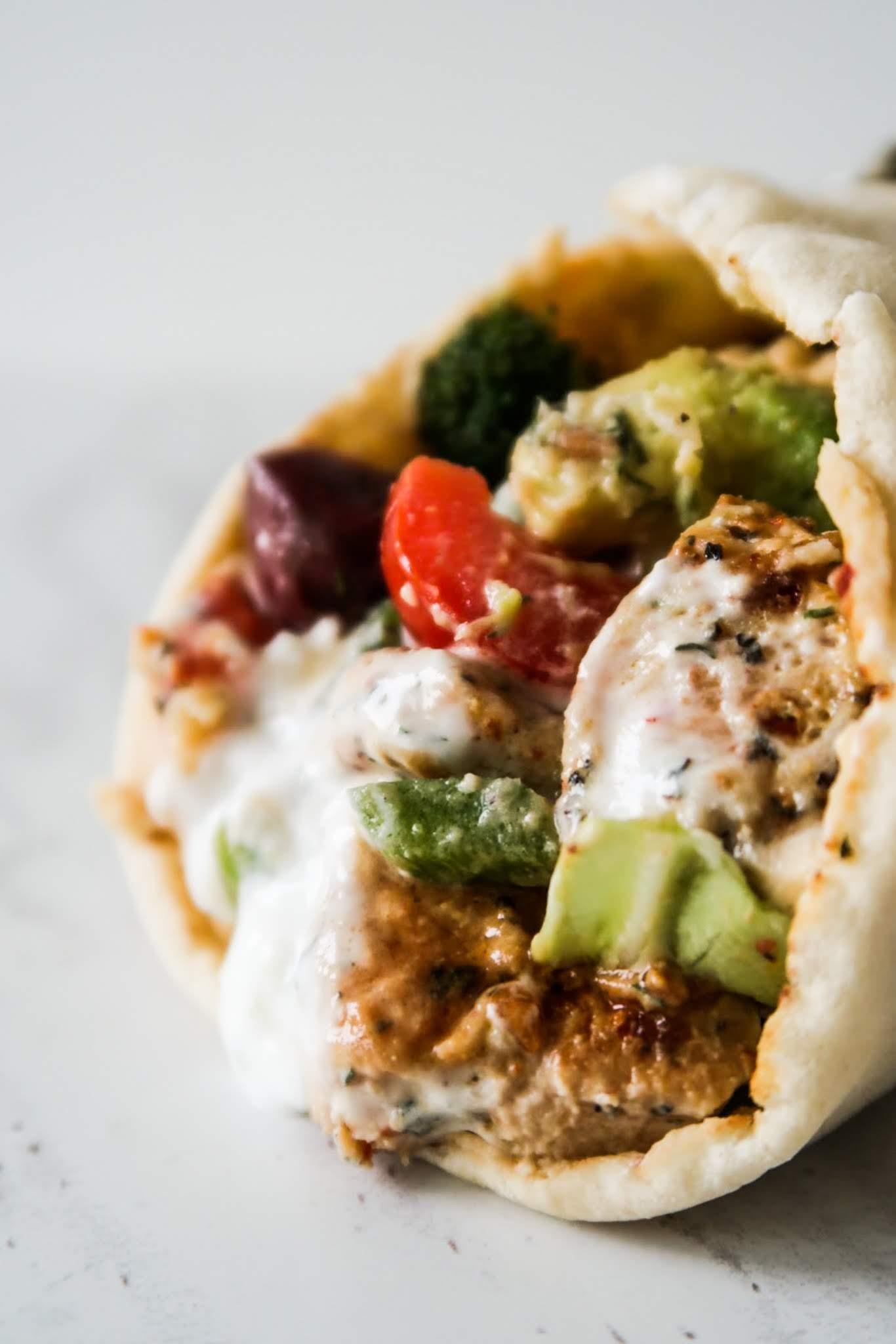 Mediterranean chicken wrap - healthy dinner recipe