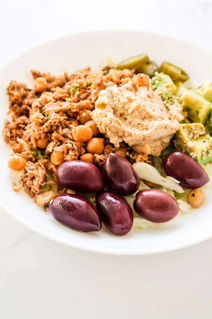 healthy tuna chickpea bowls