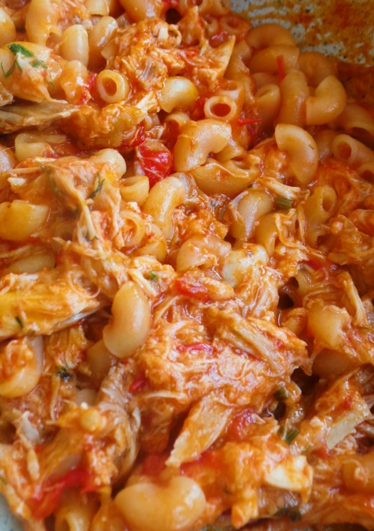 10-minute healthy macaroni and chicken! - easy dinner recipe