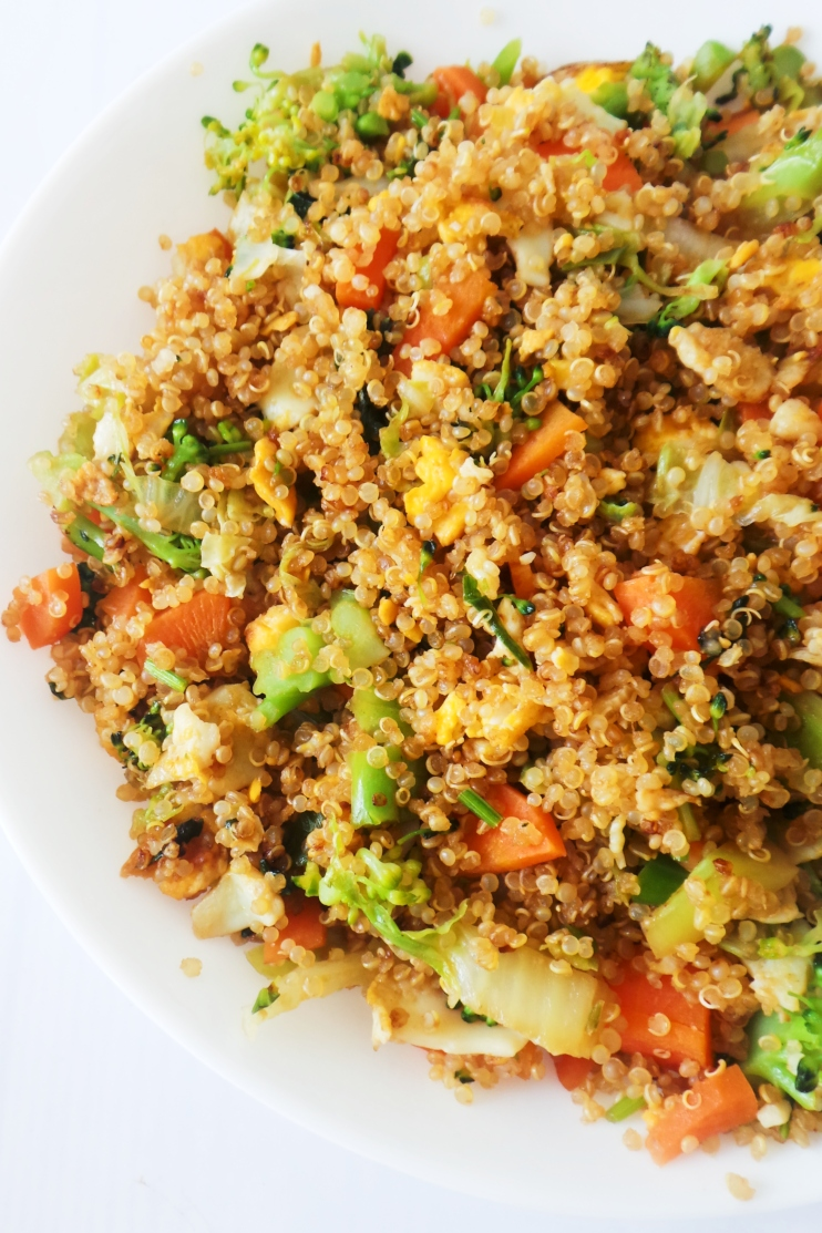 Healthy Fried Rice Recipe | Easy Quinoa Fried Rice Recipe  - this is a simple 15-Minute HEalthy Vegetarian Dinner Idea