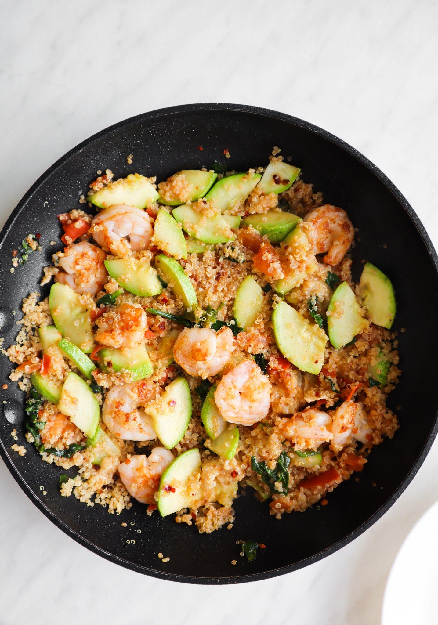 spicy shrimp and quinoa - easy dinner recipe