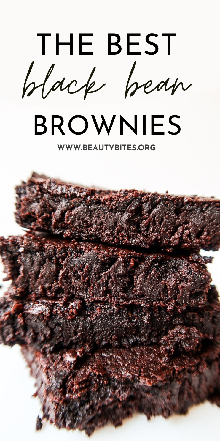 The best black bean brownie recipe - these easy and healthy vegan brownies are super tasty, flourless, fudge and gluten-free. Make them sugar-free by using dried fruit or a natural sweetener. These are a healthy vegan dessert and are perfect when you crave chocolate!