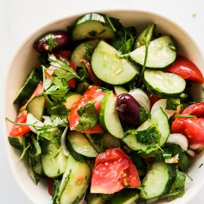 5-Minute Tomato Cucumber Salad Recipe