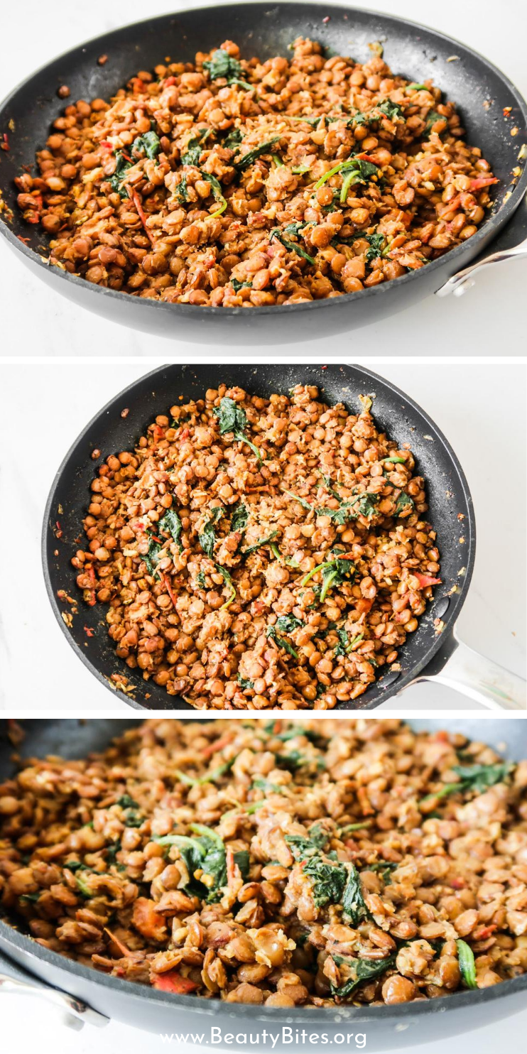 If you're on a mission to find some healthy dinner ideas, you've just found a healthy vegan dinner recipe that you'll want to make every week. This is a delicious healthy vegan lentil bowls recipe and it's gonna become one of your go-to easy lentil recipes. High in protein and fiber, these gluten free bowls are satisfying and super easy to make, even if you've never made lentils before.