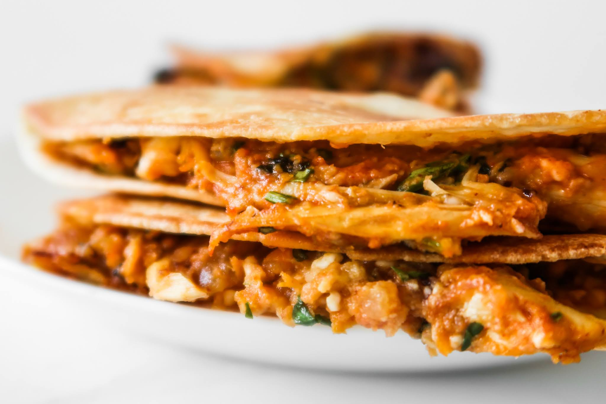 Easy Chicken Quesadilla With Feta Cheese - easy healthy lunch recipes