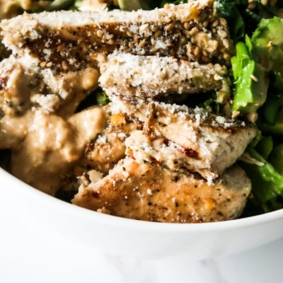 Healthy lunch ideas: avocado chicken salad recipe