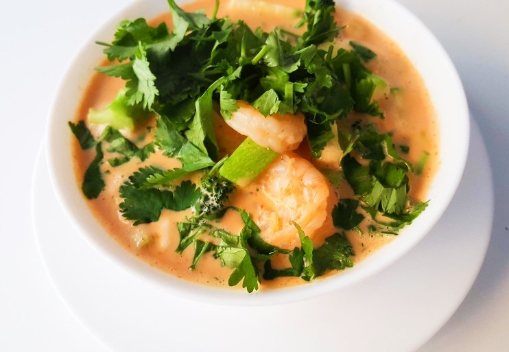 Easy healthy lunch ideas: shrimp soup recipe