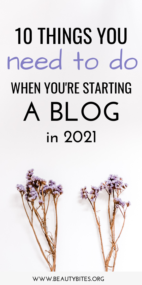 10 important steps for beginner bloggers! The best blogging tips and ideas to help you start a blog and make money blogging in 2021!