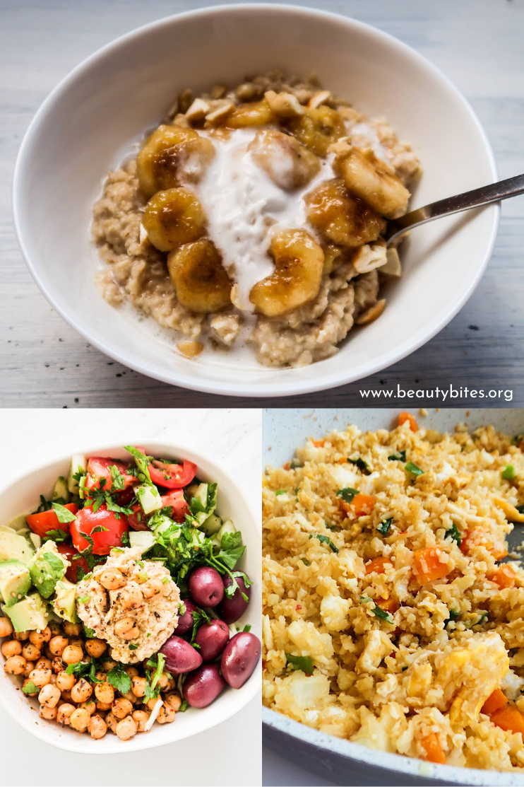 7 day no sugar challenge day 1 - healthy meal plan and grocery list