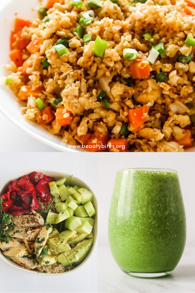 7 day no sugar challenge day 2 - healthy meal plan and grocery list
