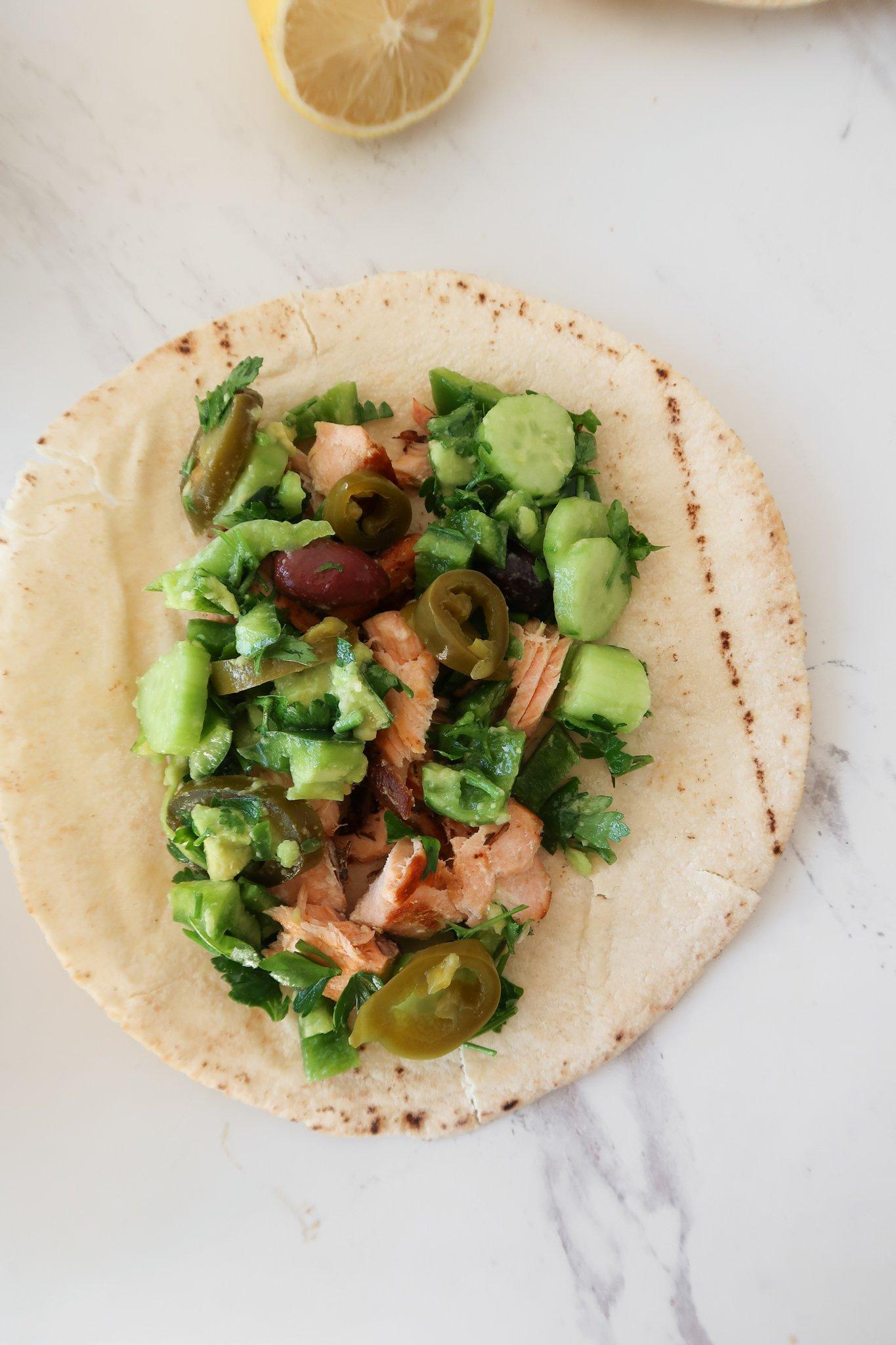 Mediterranean Salmon Wraps Recipe
