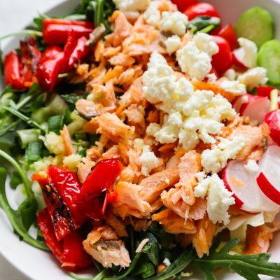 Mediterranean Salmon Salad Recipe