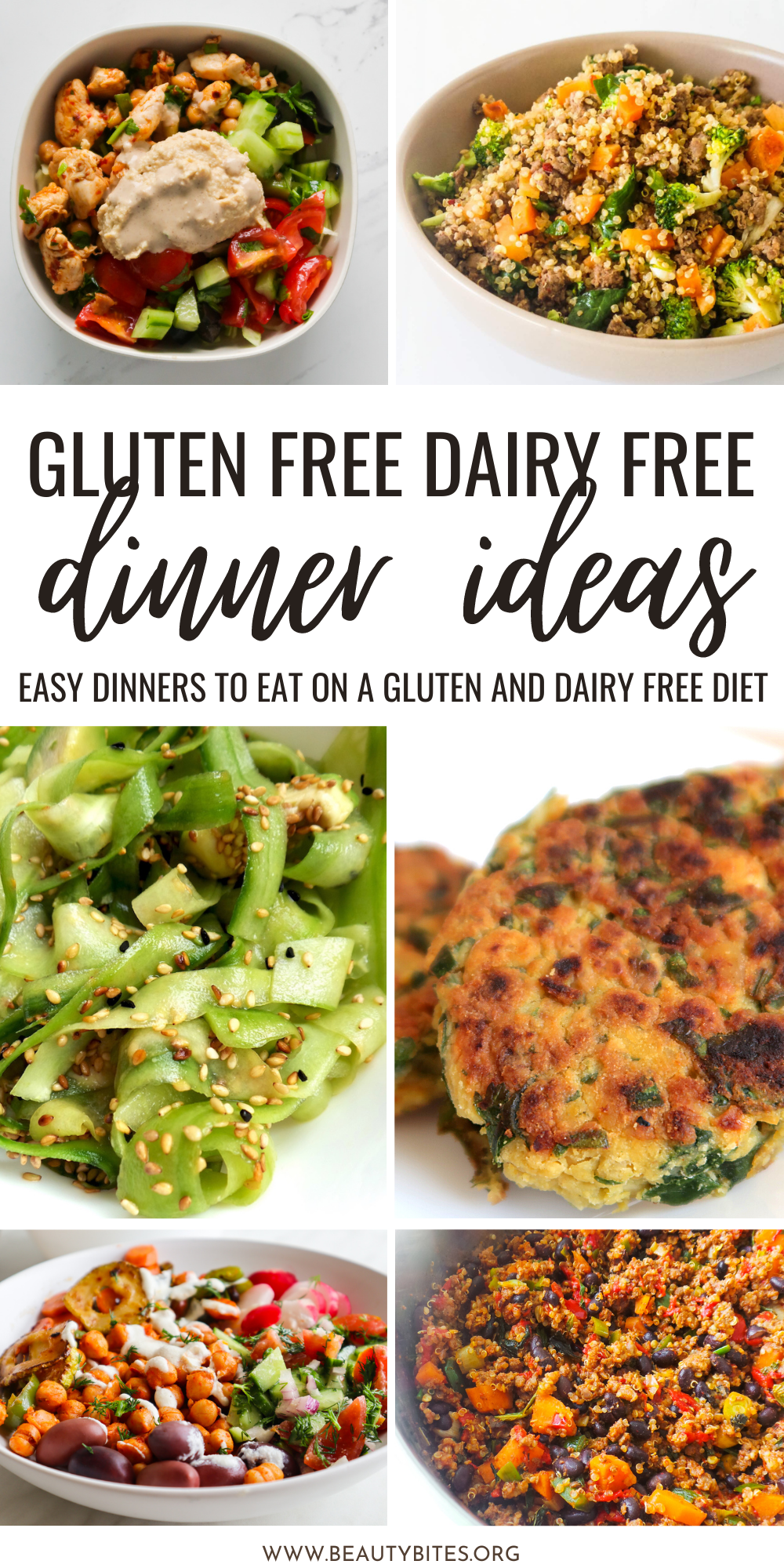 A collection of delicious quick and easy healthy dairy free gluten free dinner recipes to eat on a gluten free dairy free diet! You'll look forward to these flavorful healthy dinner ideas when you put them on your weekly meal plan.