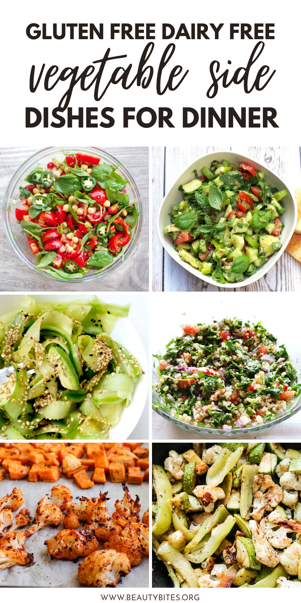 A collection of delicious quick and easy healthy vegetable recipes to eat on a dairy free gluten free diet. Enjoy these vegetable side dishes at dinner!
