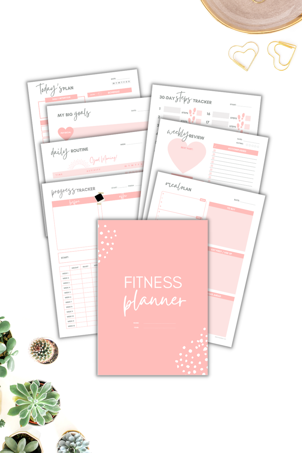 fitness planner inserts