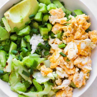 Healthy Fried Rice Breakfast Bowl